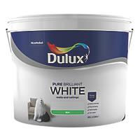Dulux Silk Emulsion Paint Pure Brilliant White 10Ltr