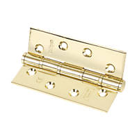 Electro Brass Grade 7 Fire Rated Washered Hinge 102 x 67mm 2 Pack