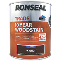 Ronseal Exterior Woodstain Satin Walnut  750ml