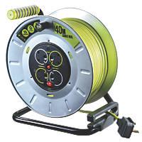 PRO XT OTLU40134SL-XD 13A 4-Gang 40m Cable Reel 240V