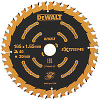 DeWalt Extreme 2nd Fix Circular Saw Blade 165 x 20mm 40T