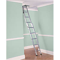 Lyte Deluxe 2-Section Aluminium Loft Ladder 2.67m