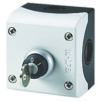 Eaton  Black Push-Button Key-Release Switch Station