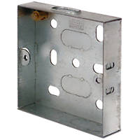 LAP  1-Gang Galvanised Steel Installation Boxes 16mm 10 Pack