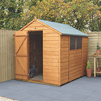 """Forest Delamere 6' x 7' 6"""" (Nominal) Apex Shiplap Timber Shed"""