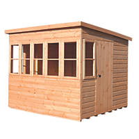 Shire 8' x 8' (Nominal) Pent Shiplap T&G Timber Shed