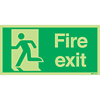 Nite-Glo  'Fire Exit' Running Man Left Sign 150 x 300mm