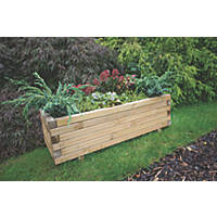 Forest Rectangular Agen Planter Natural Wood 320 x 400 x 1000mm