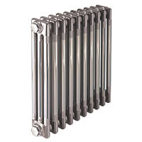 Acova  3-Column Horizontal Designer Radiator 600 x 1042mm Raw Metal