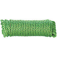 Diall Twisted Rope Green 10mm x 15m