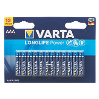 Varta Longlife Power AAA Batteries 12 Pack