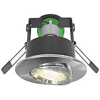 4lite WiZ Connected Adjustable  Fire Rated LED Smart Downlight Polished Chrome 4.9W 345lm