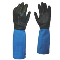 Showa Best Chem Master Gauntlets Blue/Black Large
