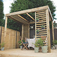 Forest Dining Pergola 3.03 x 2.44 x 2.80m Natural Timber