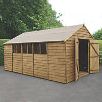 "Forest  10' x 14' 6"" (Nominal) Apex Overlap Timber Shed with Assembly"