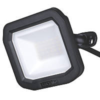 Luceco Slimline LED Floodlight Black 20W 2400lm