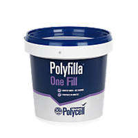 Polycell Trade Polyfilla One Fill Tub White 1Ltr