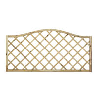 Forest Hamburg Lattice Curved Top Garden Screens 6 x 6' 8 Pack