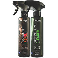 Grangers  Footwear Cleaner & Protector Twin Pack 2 x 275ml