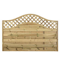 Forest Prague Wave-Top Lattice Fence Panels 1.8 x 1.2m 6 Pack