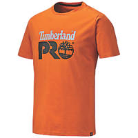 "Timberland Pro Cotton Core T Shirt  Orange  X Large 47"" Chest"