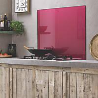 Impact Glass Crimson Metallic Self-Adhesive Splashback 900 x 750 x 6mm