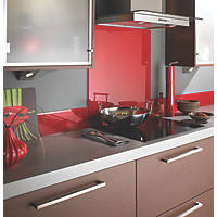 Impact Glass Lipstick Red Self-Adhesive Toughened Glass Splashback 600 x 750 x 6mm