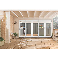 Jeld-Wen Bedgebury 5-Door Satin Painted White Wooden Bi-Fold Patio Door Set 2094 x 3594mm