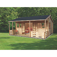Shire Sherwood Log Cabin Assembly Included 5.9 x 5.39m