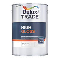 Dulux Trade  High Gloss Paint Pure Brilliant White 1Ltr