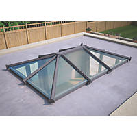 ATT Fabrications Ltd Clear Glass Roof Lantern Grey 3000 x 2000mm