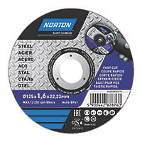 "Norton  Metal Cutting Disc 5"" (125mm) x 1.6 x 22.23mm"