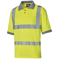 "Dickies SA22075 Hi-Vis Polo Shirt Yellow Large 46"" Chest"