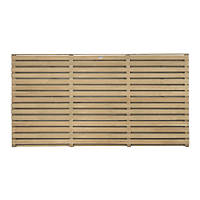 Forest  Double-Slatted  Fence Panel 6 x 3' Pack of 3
