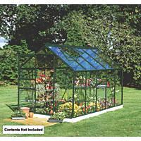 Halls Popular Greenhouse Green Toughened Glass 6' x 10'