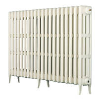 Arroll  4-Column Cast Iron Radiator 760 x 754mm White