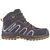 Solid Gear Falcon   Safety Trainer Boots Black / Orange Size 8