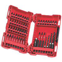Milwaukee Mixed Shockwave Screwdriver / Drill Bit Set 48 Pieces