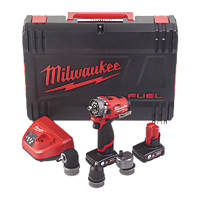 Milwaukee M12 FPDXKIT-602X FUEL 12V 6.0Ah Li-Ion RedLithium Brushless Cordless 6-in-1 Combi Drill