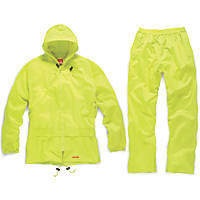 "Scruffs T54555 Waterproof Suit Yellow Large 44"" Chest"