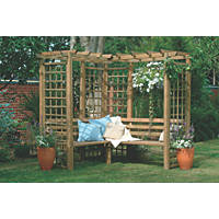 Forest Sorrento Arbour 2 x 1.9 x 2.2m Natural