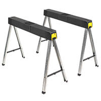 Stanley  Foldable Saw Horses 109cm 2 Pack