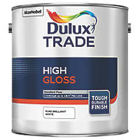 Dulux Trade  High Gloss Paint Pure Brilliant White 2.5Ltr