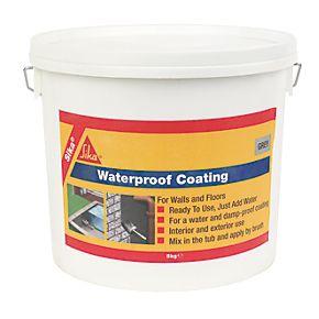 Sika waterproof coating grey 5kg waterproof sealants - Silicone paint for exterior walls ...