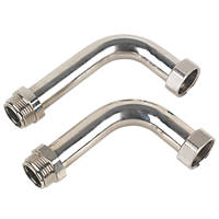 JG Speedfit Manifold Connector Chrome 2 Pack