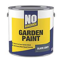 No Nonsense Garden Colour Wood Paint Semi-Matt Slate Grey 2.5Ltr