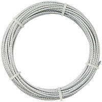 Diall Wire Rope Silver 4mm x 10m