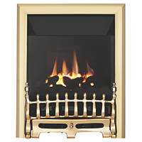 Focal Point Blenheim Brass Rotary Control Inset Gas High Efficiency Fire