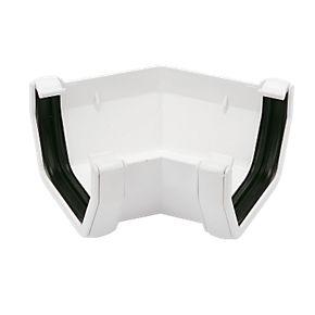 Floplast Square Line 135 176 Gutter Angle 114mm White