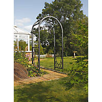 Rowlinson Wrenbury Round Top Arch  Gun Metal Grey 1.1 x 0.61 x 2.2m